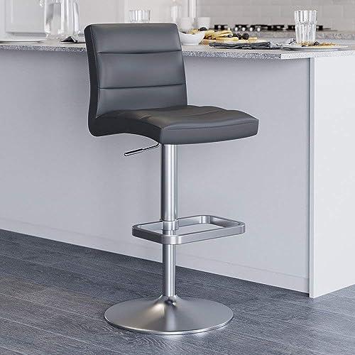 Zuri Furniture Slate Lush Adjustable Height Swivel Armless Bar Stool