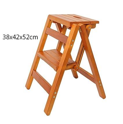Remarkable Amazon Com Nssdsd Solid Wood Step Stool Household Multi Ibusinesslaw Wood Chair Design Ideas Ibusinesslaworg