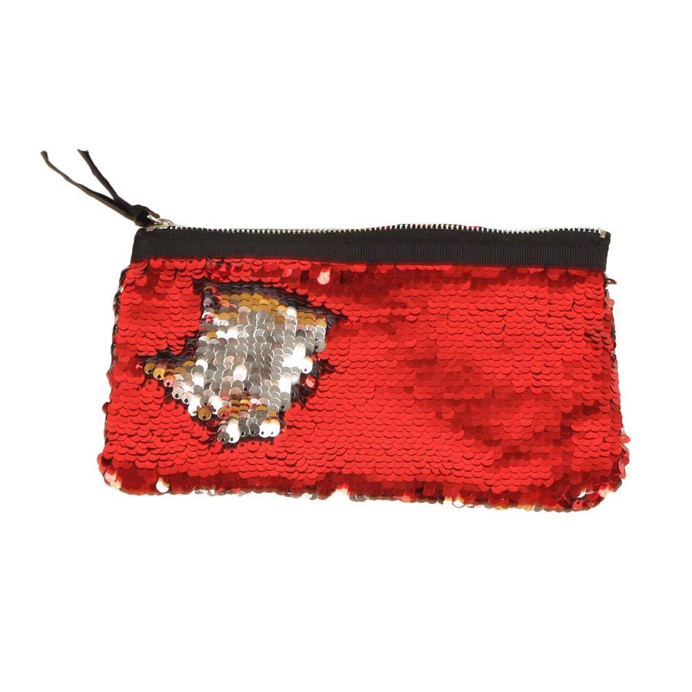 LAAT 1pcs Pencil Case Sequin Cosmetic Bag Women Sequined Wallet Coin Purse Sequined Coin Purse Clutch Makeup Cosmetic Bag Coin Purse Wallet Clutch Handbag Wallet Bag Purse Change Holder Travel Bag