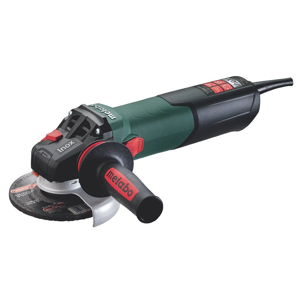 Metabo WEV 15-125 Quick Inox - mini amoladora 1500 W, disco 125 mm, especial INOX 6.00572.00