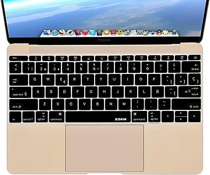 XSKN funda para teclado español de silicona para MacBook de 12