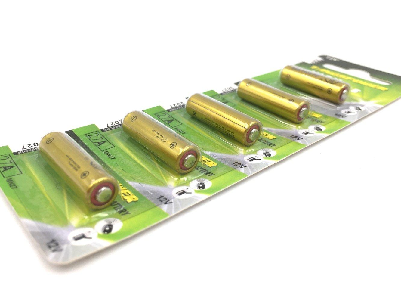 Batería Alcalina 27A 12V - Paquete de 5 TP27A-C5 MN27 A27