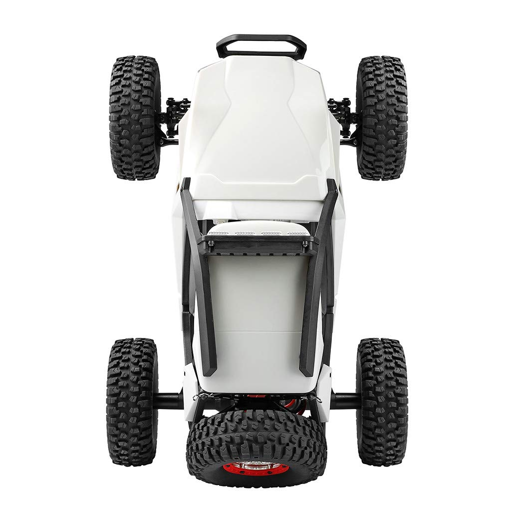 Auvem RC Electric Car, 1:12 Crawler 4WD 2.4G Electric Car with LED Lights RC Off-Road Radio Remote Control Truck, High Speed Racing Monster Truck Hobby Rock Crawler Toy (White) by Auvem (Image #5)
