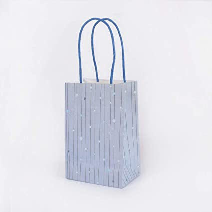 Amazon.com: Bolsa de papel Kraft con asas de Chitop – bolsas ...