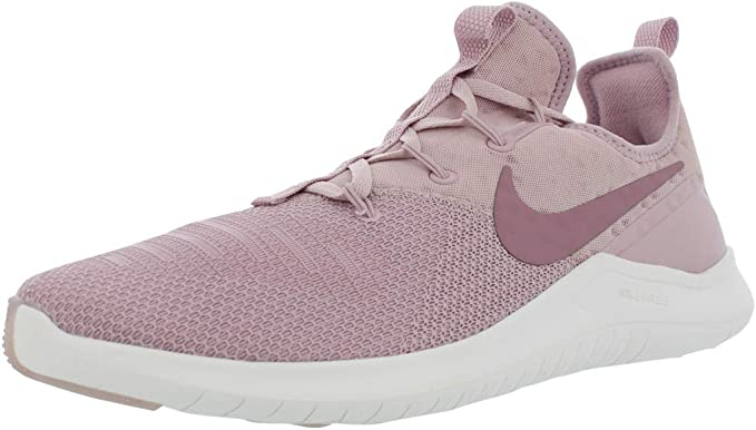 Nike Womens Free TR 8 stretch knit and mesh sneakers White, White Sneakers