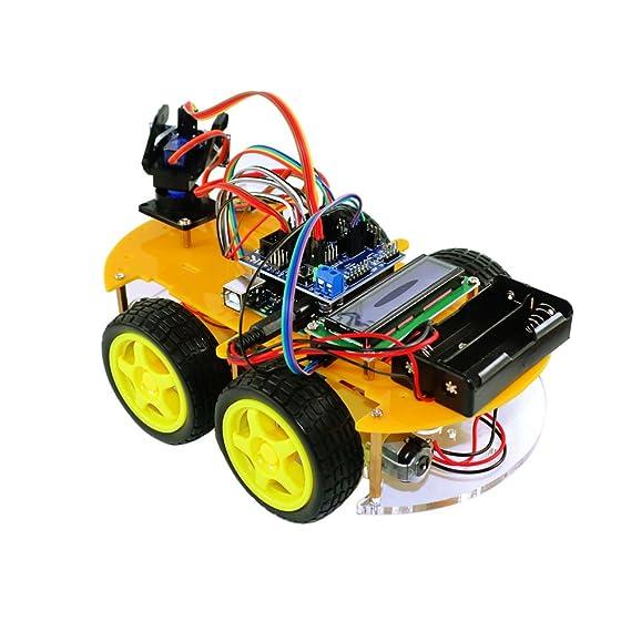 TBS 2654 - Kit Completo Car Smart Robot Arduino con detectores de Obstáculos y Bluetooth - Tarjeta UNO Atmega-328 - DYI - Guía del Usuario con Proyectos de ...