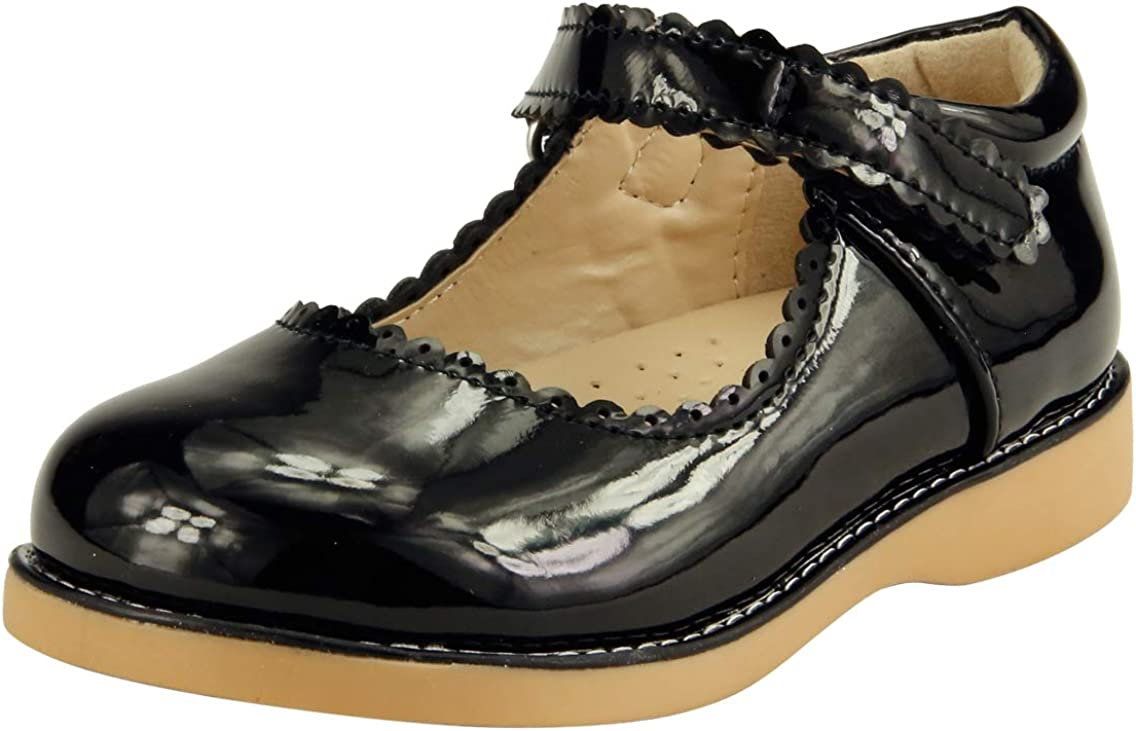 Girl/'s School Dress Classic Shoes  Mary Jane Glossy Black or Red Toddler size