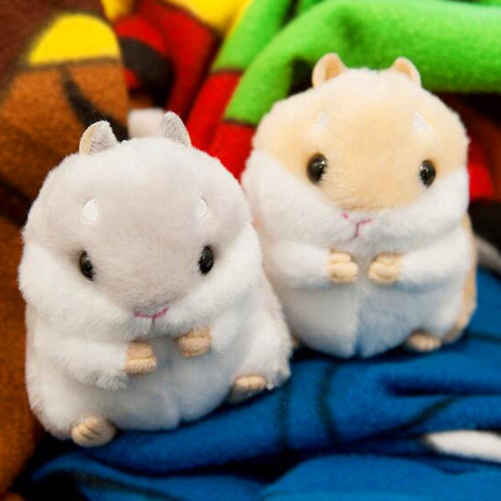 Cute Plush Hamster Pendant Key Chain Keyring Handbag Purse Car Pendant Decor 856store