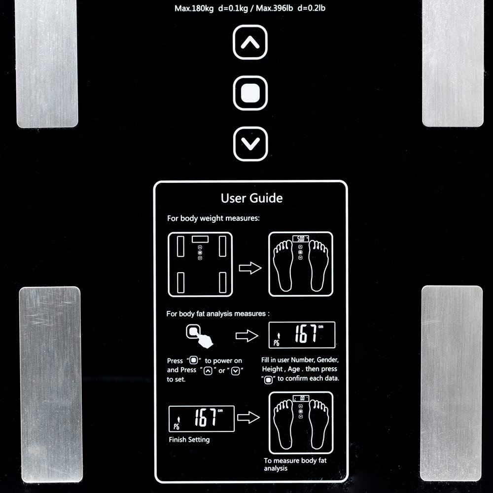 Amazon.com: SSLine Báscula digital de peso para el baño ...