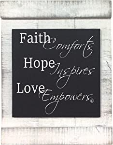 From My Mama's Kitchen - Faith Hope Love - a Graceful and Gentle Reminder of How Faith Soothe Our Soul, Hope ensures a New Beginning, and Looking Through The Lens of Love Delivers Confidence.