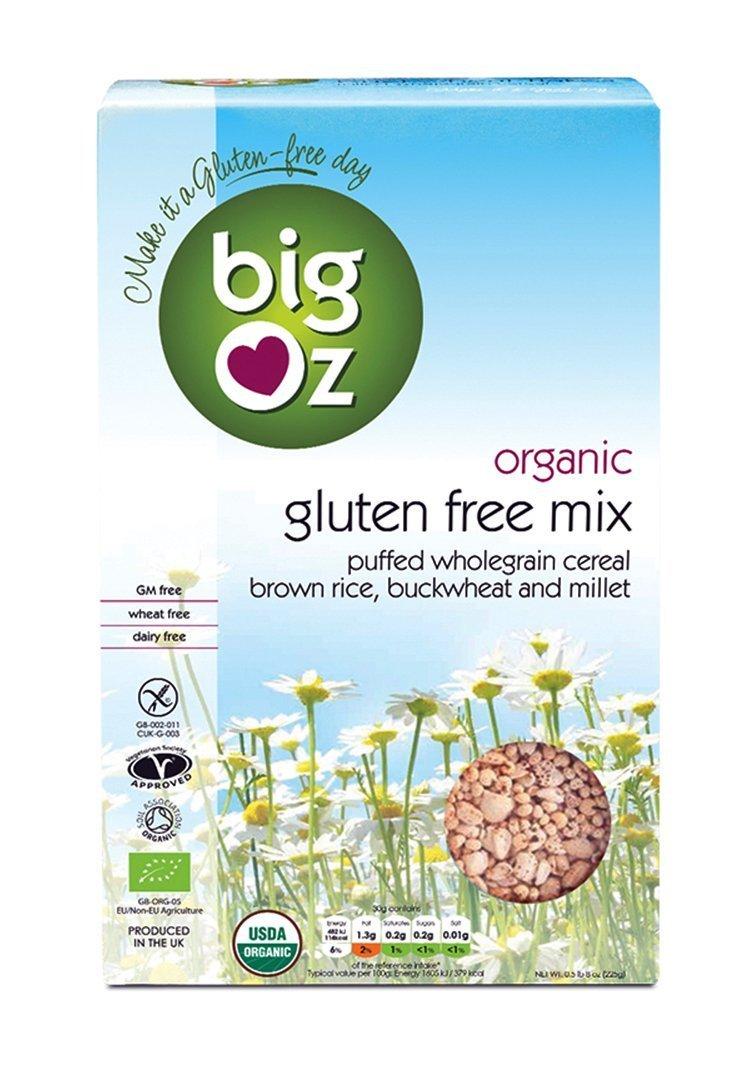 Big Oz Organic Puffed Gluten Free Cereal Mix 225 g
