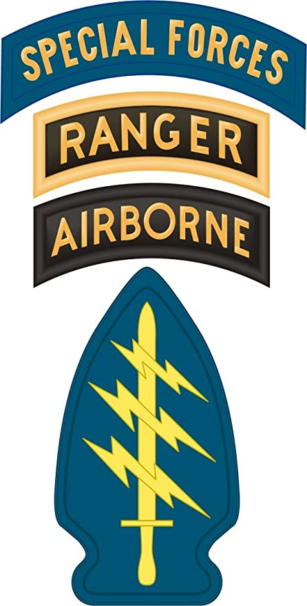 Amazon Us Army Special Forces W Ranger Airborne Tabs Decal