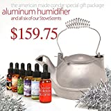 Holiday Special Gift Package (HK-MS6) – MOONLIGHT SILVER Cast Aluminum Half-Kettle Steamer with CHROME Handle and SIX Stove Scents