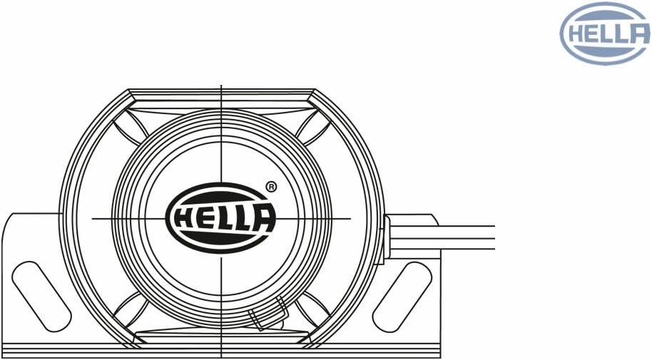 A ac/ústico 112dB Long Cubierta de pl/ástico HELLA 3SL 996 139-111 Avisador de marcha atr/ás Rango de frecuencia: 1250Hz cable: 160mm Color de carcasa: negro