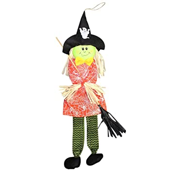 Handmade Wicked Witch With Besom Hanging Ornaments Halloween Home