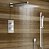 iBathUK Thermostatic Mixer Shower Set 12' Head Chrome 2 Way Valve Kit + Handset