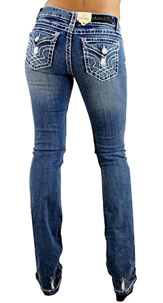 Amazon.com: LA Idol - Pantalones vaqueros de 0 a 15 años de ...