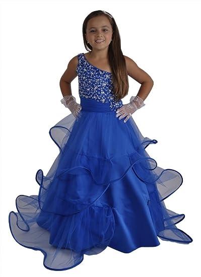 Jessidress Vestido de fiesta para nina Vestido de ceremonia Vestido de comunion Navidad Model Blue 8