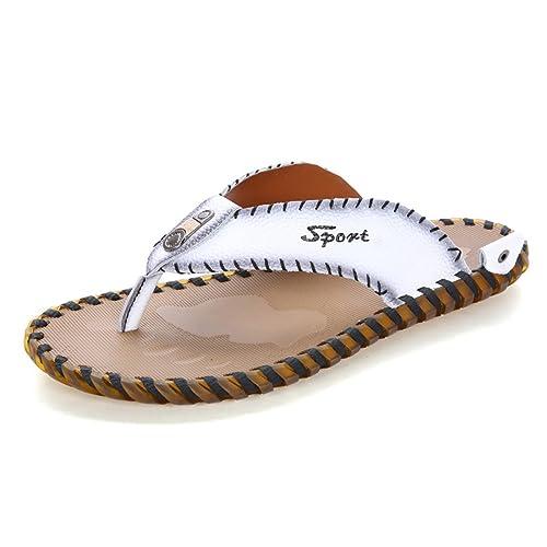 ce848e889bd5 Z.SUO en Cuir Confortable Mode Flip-Flop Sandales Tongs Homme  Amazon.fr   Chaussures et Sacs