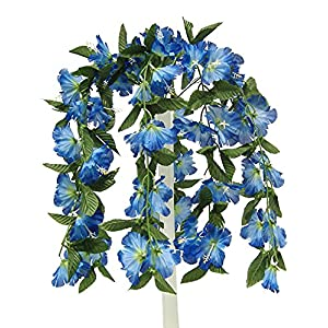 "26"" Hibiscus Hanging Bush Artificial Silk Wedding Bridal Bouquet Flowers 9 Stems 65"