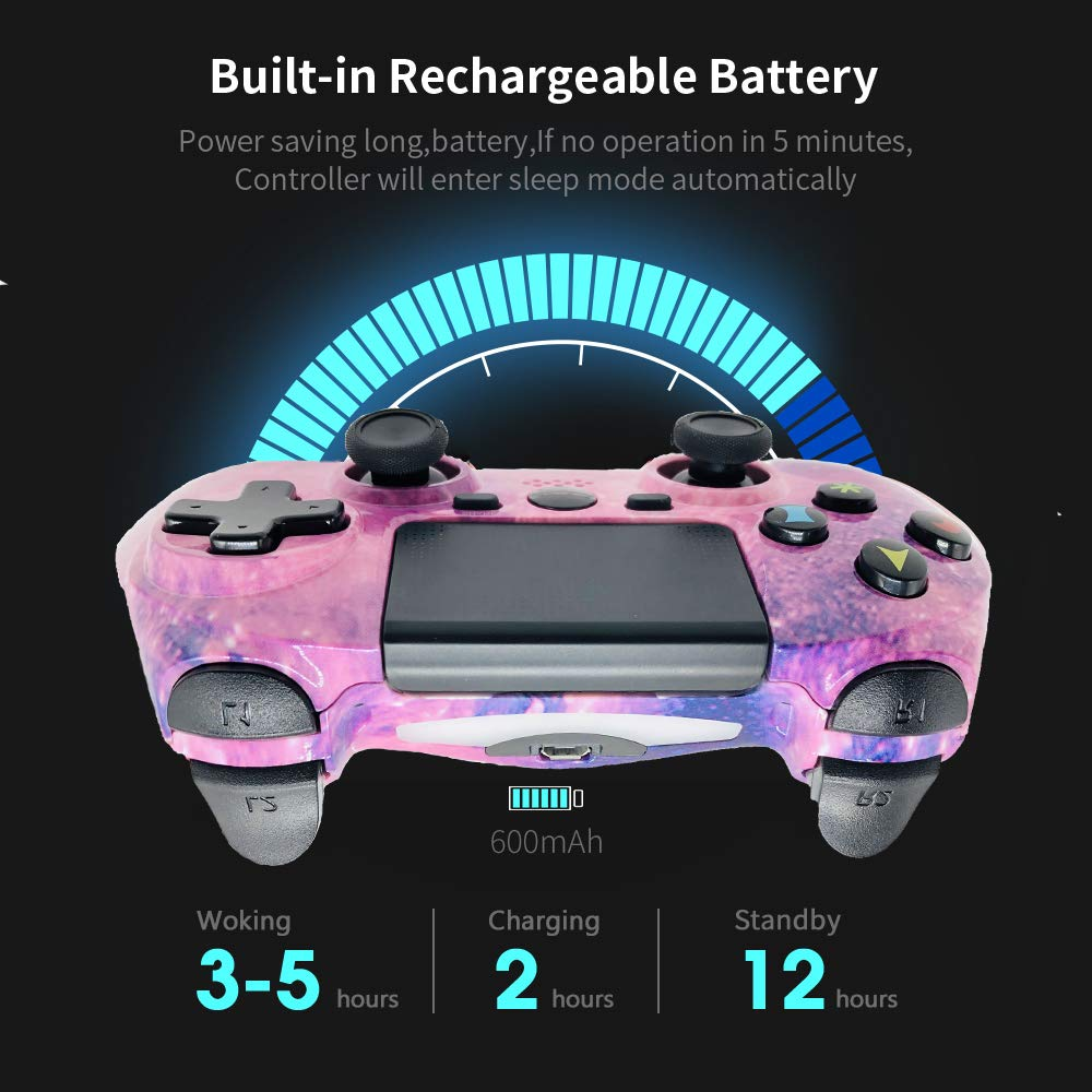 PS4 Controller Wireless for Sony Playstation 4 Pro/Slim Dual Shock 4 GamePad Remote 6axis Gaming Joystick with Touch Pad High-Precision