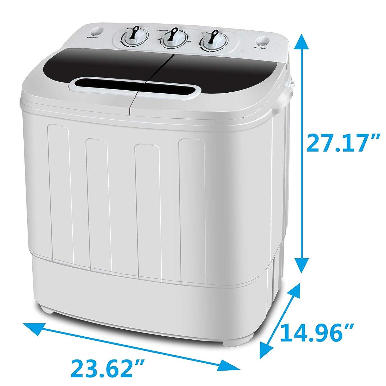 Amazon.com: ZENY - Lavadora portátil compacta de doble ...