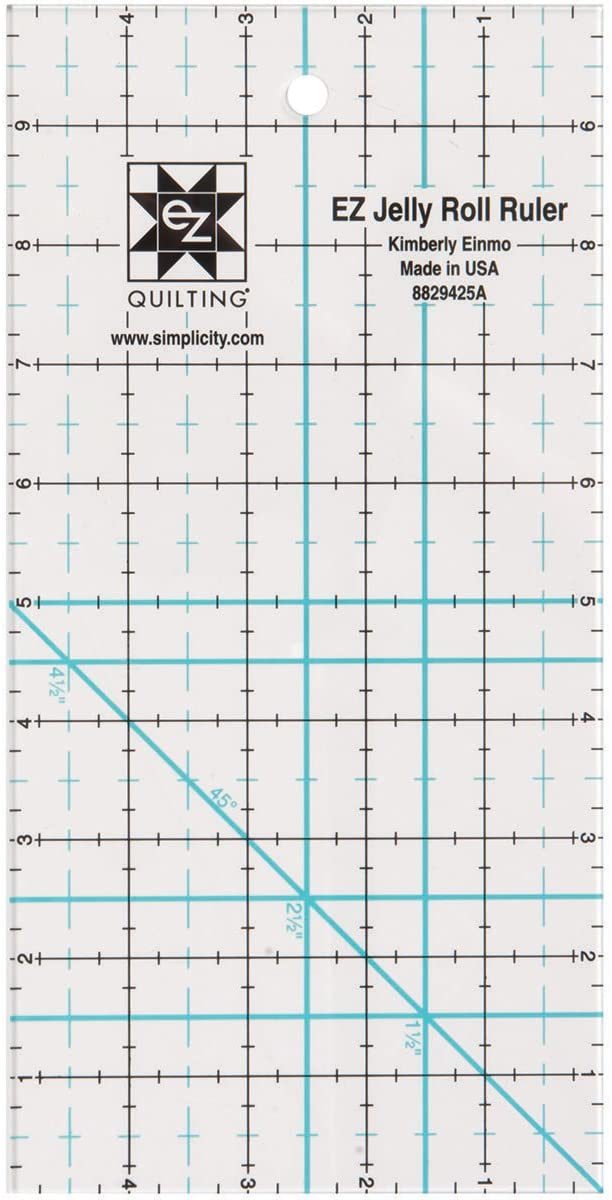 Simpli-EZ 8829425 5-inch by 10-inch Jelly Roll Ruler Quilting Tool