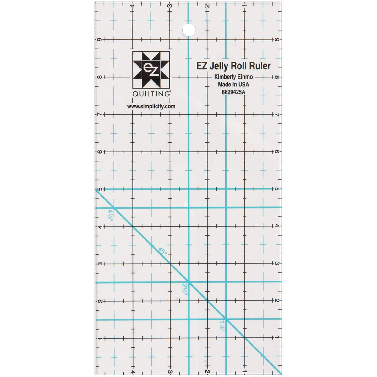 Simpli-EZ 8829425 5-inch by 10-inch Jelly Roll Ruler Quilting Tool Simplicity 8829425A