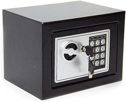 CDC® 4.6L digitales Acero electrónico seguro seguridad hogar oficina dinero Cash Caja de seguridad 2 llaves: Amazon.es: Bricolaje y herramientas