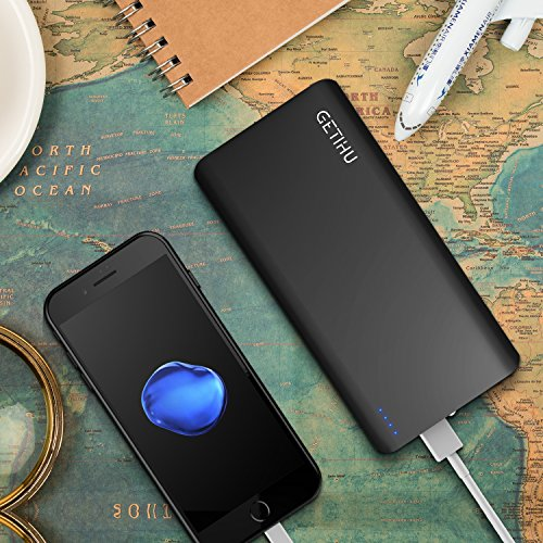 GETIHU electricity Bank 13000mAh mobile Charger 2 USB Ports 48A fina significant performance Charging External Battery Backup together with Flashlight for iPhone 7 6s 6 Plus 5s iPad Tablet Samsung smartphone phone Pack Batteries