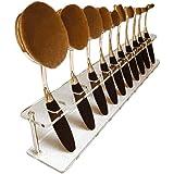 ABCsell 10 PCS Brush Storange Place Organizer Clear Acrylic 10 Lattices Cosmetic Shelf