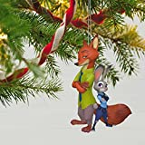 Hallmark Keepsake 2017 Disney Zootopia Judy Hopps and Nick Wilde Christmas Ornament