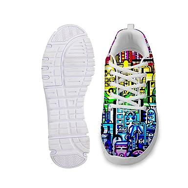 Santiro Fashion Fitness 3D Printed Mens /& Womens Breathable Fitness Walking Sneaker