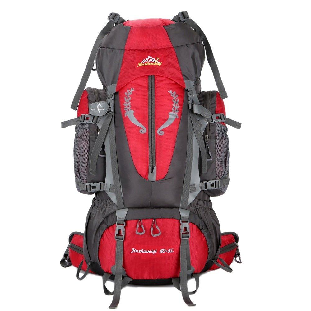 CeSuoLBD リュック メンズ 登山 バックパック バッグ 盗難防止 大容量多機能リュック 軽量 通学 通勤 出張 (Color : レッド)  レッド B07NPBPB6X