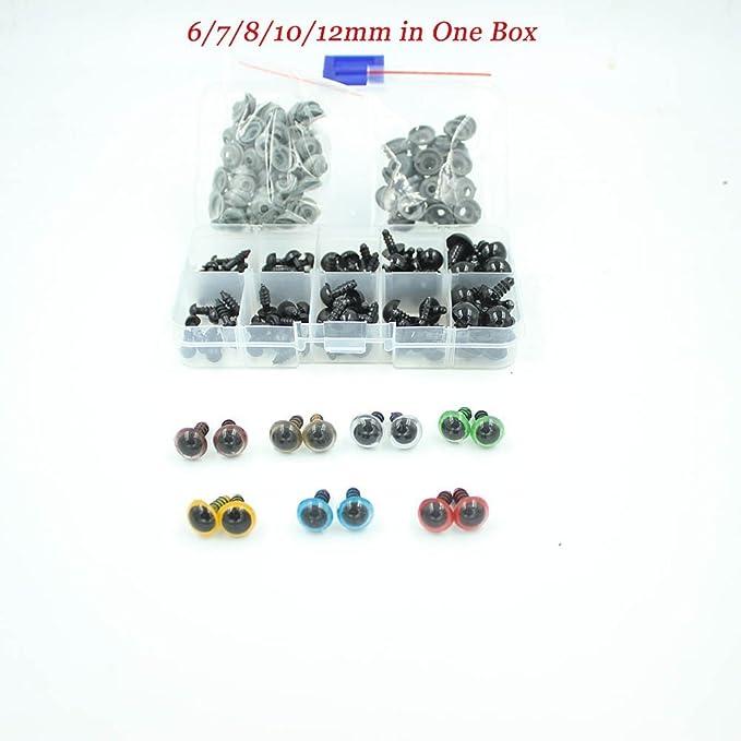 410Pcs Black Plastic Crafts Safety Eyes 8 Grid 4-12mm Needle Felting Kit Craft