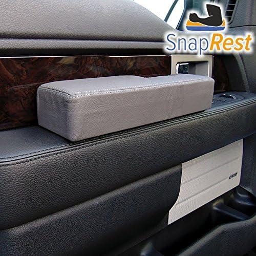 The Instant Comfort Armrest for Universal fit Black Premium Leather SnapRest