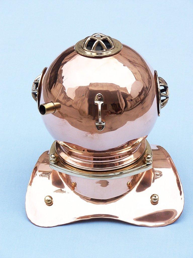 Hampton Nautical  Copper Divers Helmet, 9'', Copper by Hampton Nautical