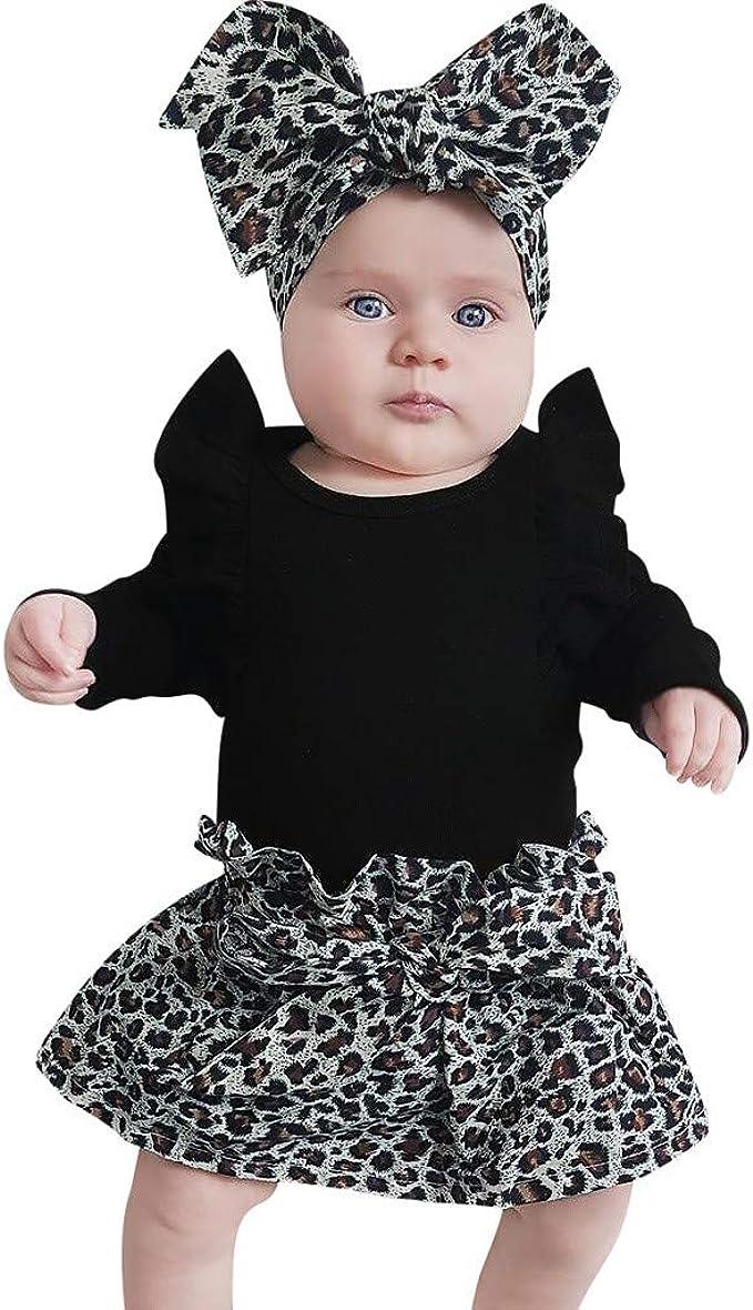 MAYOGO Ropa Recién Nacido Bebe Niñas Leopardo Estampado Conjuntos ...