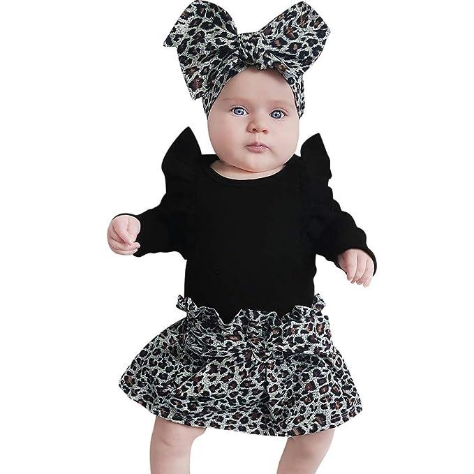 MAYOGO Ropa Recién Nacido Bebe Niñas Leopardo Estampado ...