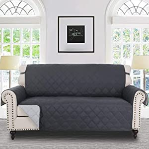 RHF Diamond Sofa Cover, Couch Cover, Couch Covers for 3 Cushion Couch, Couch Covers for Sofa, Sofa Covers for Living Room, Couch Covers for Dogs, Couch Protector(Sofa:Charcoal/Grey)