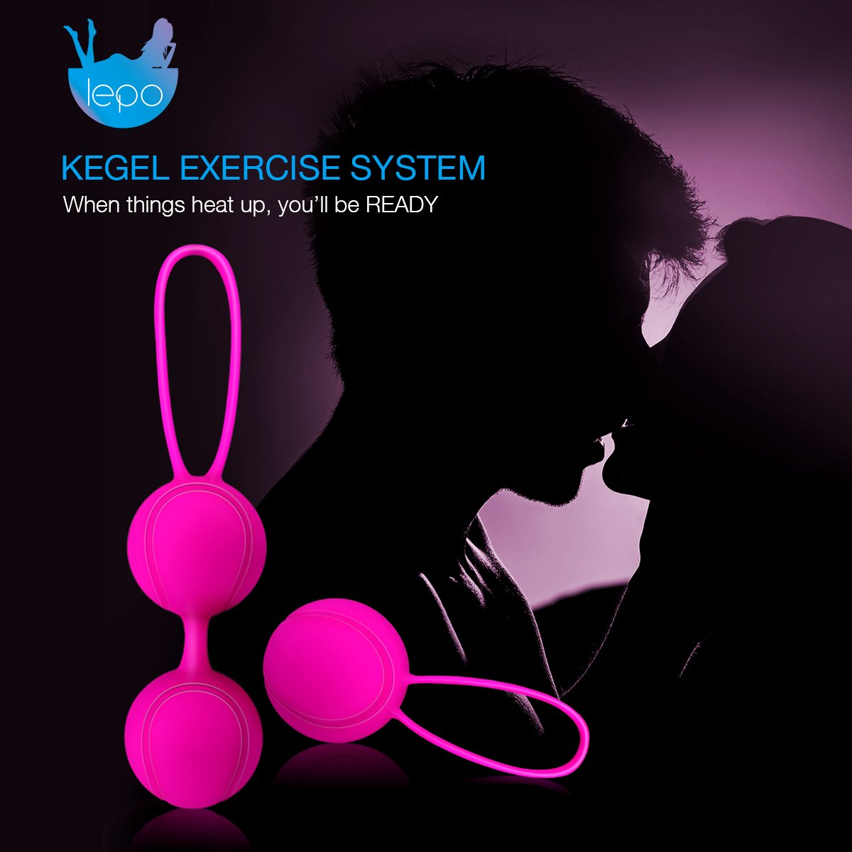 LEPO Kegel Ball Exercise Weights Kit Bladder Control Device for Pelvic Floor Exercise, Post-Pregnancy Recover