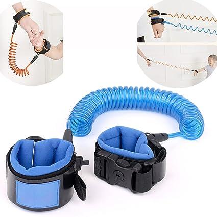 1,5 m correa el/ástica de seguridad para beb/é correa de velcro para la mu/ñeca azul azul Talla:1.5M arn/és para la mu/ñeca anti p/érdida Cintur/ón antip/érdida para beb/é correa de seguridad