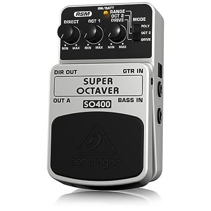 Behringer SO400 4033653053259 - Pedal octavador para guitarra, color blanco