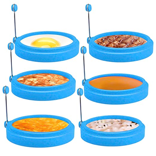 Laelr - 6 anillos para huevo de 4 pulgadas antiadherentes de ...