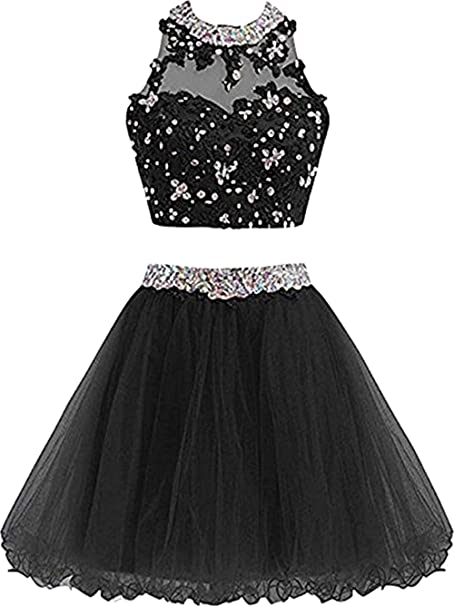 Xia Womens Dress Cute Lace Prom Dress For Short Ball Gown Bridesmaid Dress