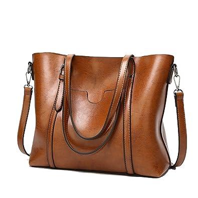 3a832b974f65 Handbags Purses for Women Vintage Leather Messenger Bag Top Handle Satchel  Shoulder Bag Casual Shopping Handbag