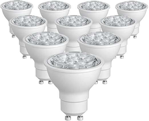 SUNTHIN 10 Pack Warm White 6.5W GU10 Led Bulb Non-Dimmable 60w Equivalent Recessed Lighting GU10 LED Spotlight 500lm 38 Degrees Beam