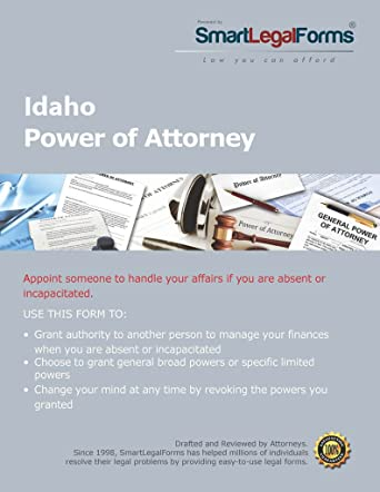 Amazoncom General Durable Power Of Attorney Statutory Form - Idaho legal forms