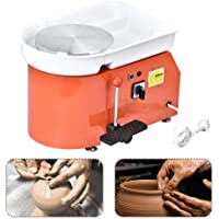 ETE ETMATE 25CM 350W Electric Pottery Wheel Machine with Foot Pedal for Ceramic Work Clay Art Craft Electric Pottery Wheel DIY Clay Tool for Adults