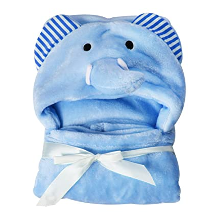 Toalla de bebé con capucha, de Hinmay, suave forro polar de coral, con diseño de animal, para bebés de 0 a 24 meses, #2, Tamaño libre: Amazon.es: Hogar